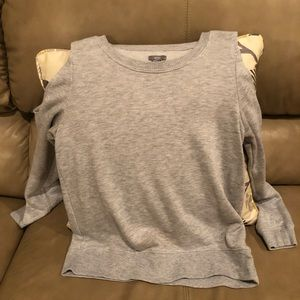 aerie off the shoulder long sleeve shirt